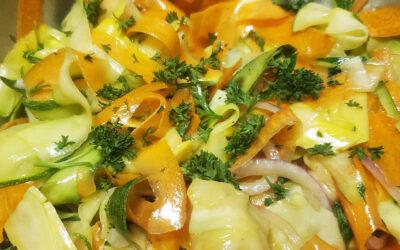 Summer Carrot & Zucchini Salad w/ Orange Vinaigrette